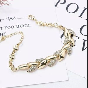 New Exquisite Rhinestone Crystal Gold Bracelet